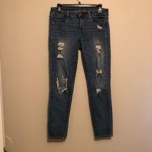 American Eagle Distressed Stretch Jegging Jean
